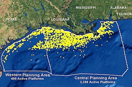 oil rigs gulf
