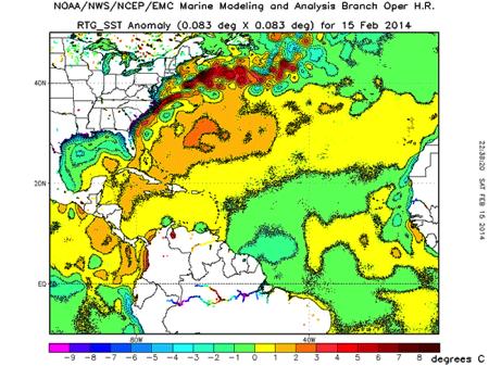 gulf stream anomalies